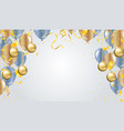 balloon of happy new year place for christmas vector image vector image