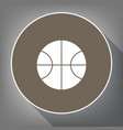 basketball ball sign white vector image