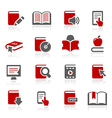 Book Icons vector image vector image