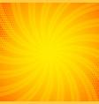 bright orange comic book background vector image