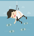 catching money vector image vector image