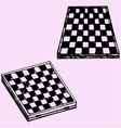 chess board checkers board vector image vector image