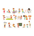 childrens failures and mistakes set frustrated vector image vector image