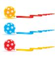 Christmas bulbs and ribbons vector image vector image