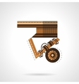 Close-up longboard flat color icon vector image vector image