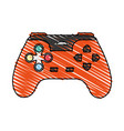 color crayon stripe cartoon control video games vector image vector image