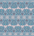 colorful indian rug paisley ornament pattern vector image