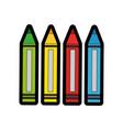 colors pencils icon vector image vector image