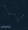 constellation cassiopeia vector image