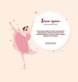 cute cartoon dancing ballerina vector image vector image