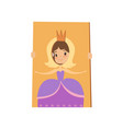 cute little girl playing tantamaresque with the vector image vector image