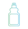 detergent bottle icon in degraded green to blue vector image