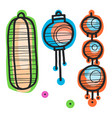 different china lanterns vector image vector image