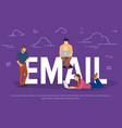 email concept business people vector image vector image
