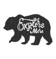 explore more silhouette grizzly bear on grunge vector image vector image