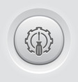 fine tuning icon gear and screwdriver service vector image