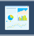 flat diagrams on board growth statistics vector image