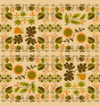 floral seamless pattern with ladybird and vine vector image vector image
