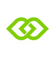 green infinity logo icon design vector image