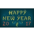Happy new year 2017 Greeting vintage card vector image vector image