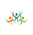 happy people business logo vector image vector image