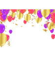 holiday frame or background with colorful balloon vector image