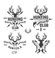 hunting club DEER vector image