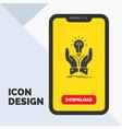 idea ideas creative share hands glyph icon in vector image