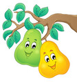 image with pear theme 1 vector image vector image