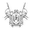 imperial coat arms heraldic embossed royal vector image vector image