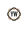 initial letter yw elegance logo design template vector image vector image