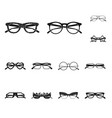 isolated object of glasses and sunglasses logo vector image