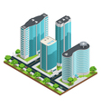 Isometric Modern City Composition vector image vector image
