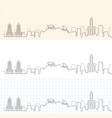 kaohsiung hand drawn skyline vector image vector image
