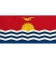 Kiribati paper flag vector image vector image