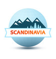 logo with scandinavian landscape vector image vector image