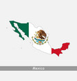 mexico map flag vector image