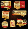 modern labels badges and tags golden vector image