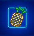 neon icon of pineapple ripe vector image vector image