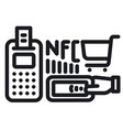 nfc technology icon vector image vector image