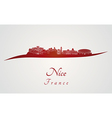 nice skyline in red vector image vector image