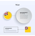 Niue Country Set of Banners vector image vector image