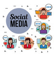 people social media networks vector image vector image