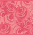 pink messy rose flower seamless pattern vector image vector image