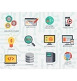 Programmer software developer icons set isolated vector image vector image