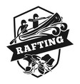 rafting logo simple style vector image
