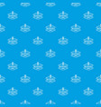 research dna pattern seamless blue vector image