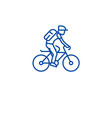 riding bicycle line icon concept riding bicycle vector image vector image