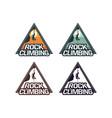 rock climbing badge logo emblem patch design club vector image