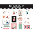 scandinavian set of greeting cards vector image vector image